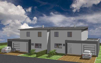doppelhaush lfte mit garage ausbauhaus grundst ck keller bodenplatte im preis nicht. Black Bedroom Furniture Sets. Home Design Ideas
