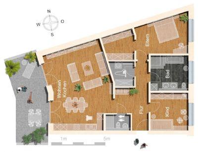 *NEUBAU* Exklusive 4-Zimmer Wohnung in City-Lage!