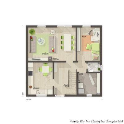EGVariante mit zusätzlichem Zimmer
