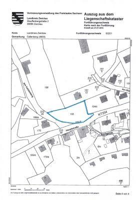 Flurkarte mit blau markierter Grundstücksfläche