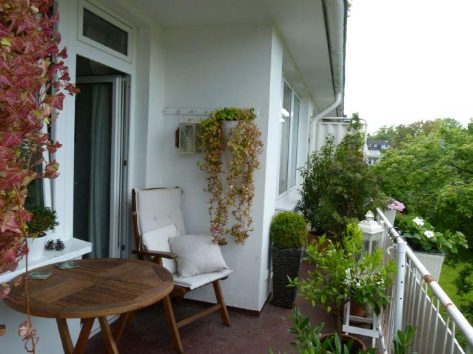 Tolle 2-Raumwohnung: Großer Südwest-Balkon - Hervorragender Grundriss