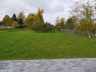 Blick von der Terasse in den Garten
