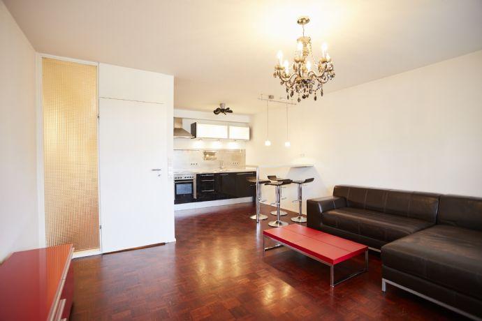 Teilmöblierte, moderne 2-Zimmer-Wohnung mit Terrasse und Einbauküche in Stuttgart Möhringen
