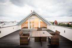 Uneinsehbare Dachterrasse