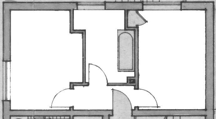 Kurzzeitmiete: helle, sanierte 1,5-Zimmer-Wohnung mit EBK und Tageslichtbad (teilmöbliert)