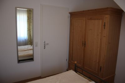 Schlafzimmer einer Dachgeschosswohnung