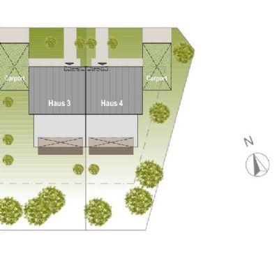 Grundstücksplan Haus4mit Haus3 Übersicht