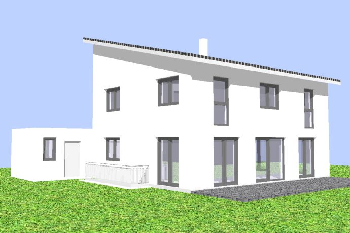 Einfamilienhaus mit Keller, massiv modern bauen - schlüsselfertig