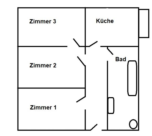 großzügige 3 Zimmer Wohnung mit