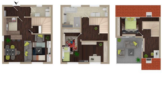 Erstbezug // Maissonette-Wohnung im Reihenhausstil // StadtQuartier «Altes Papierwerk»