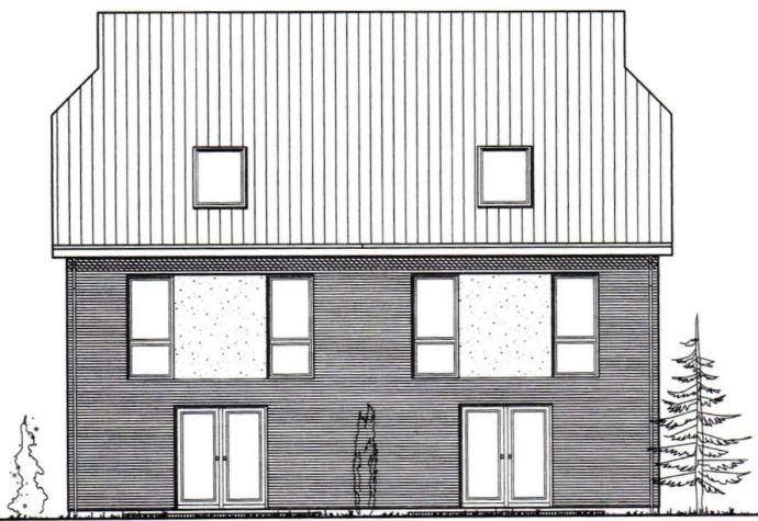 Bau hat begonnen = Sehr große Doppelhaushälfte mit Carport im Zentrum