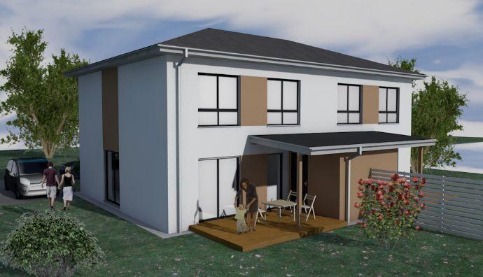 ! ! ! BAUSTART - 5 von 6 verkauft ! ! ! Doppelhaushälften mit großem Garten + Terrasse inkl. Abstellraum