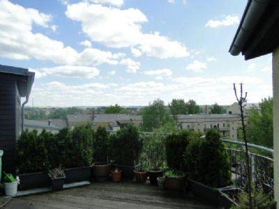 Dachterrasse 2. Wohnebene mit Blick über Chemnitz