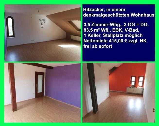 Hitzacker: 3,5 Zimmer DG-Wohnung