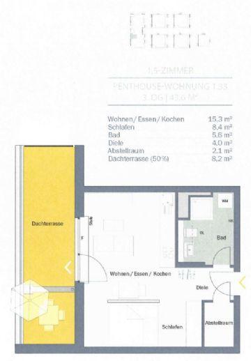 Mühlheim am Main Dietesheim 1,5-Raum-Wohnung im 3. Obergeschoss