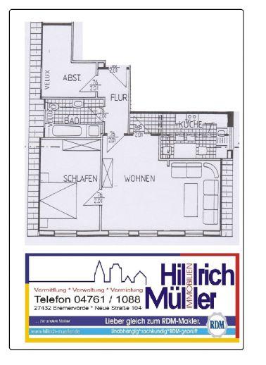2 Zimmerwohnung (Altbau)