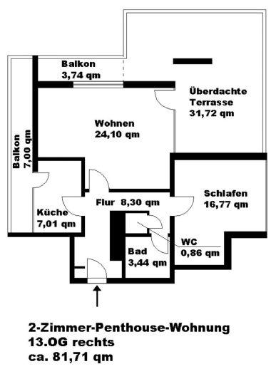 Penthouse-Wohnung zu vermieten