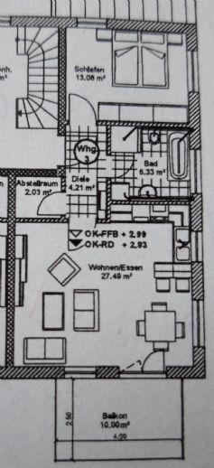 Helle 2-Zimmer-Wohnung mit EBK in Ergolding Piflas - ERSTBEZUG