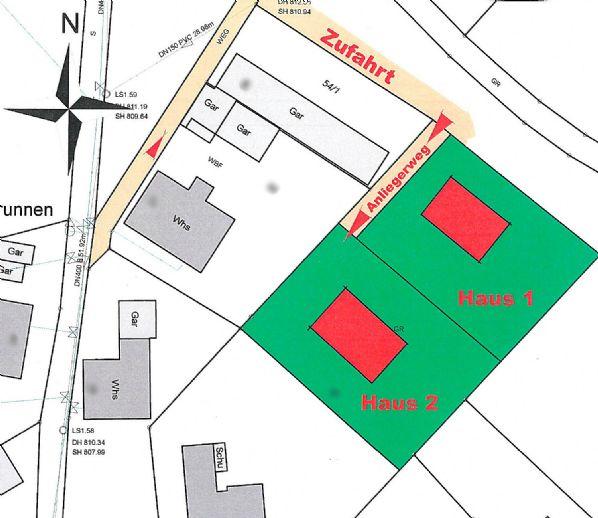 Ebener Bauplatz für 2 - Filetstück in Lenzkirch