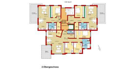 2. Obergeschoss Haus B