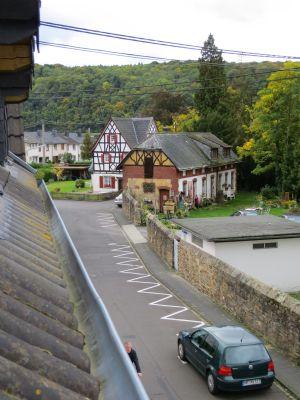 Blick aus den Dachgauben in Richtun Rhein