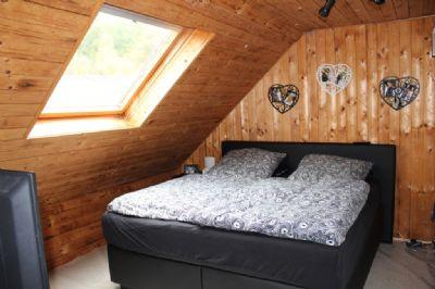 Das Schlafzimmer im Dachgeschoss