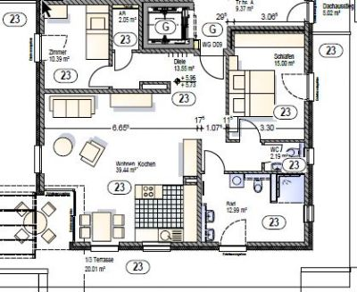 penthousewohnung in toplage von mindelheim wohnung mindelheim 2hf624n. Black Bedroom Furniture Sets. Home Design Ideas