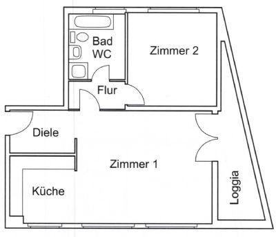 Geräumige 2 Zimmer Wohnung in Wilmersdorf