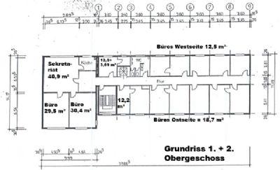 Grundriss 1 und 2 Obergeschoss