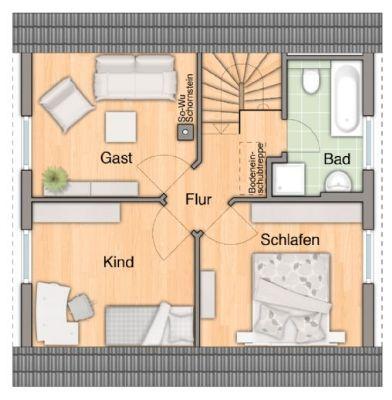 Grundrissbeispiel Dachgeschoss