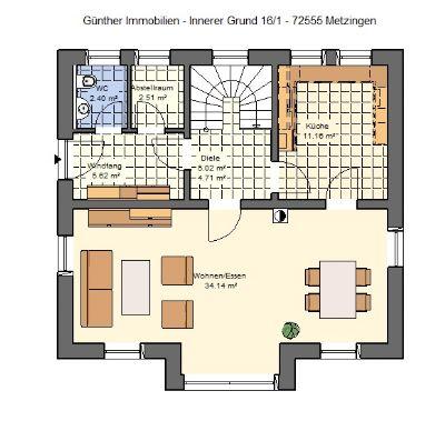 projektiertes einfamilienhaus schl sselfertig mit vollunterkellerung und doppelgarage. Black Bedroom Furniture Sets. Home Design Ideas