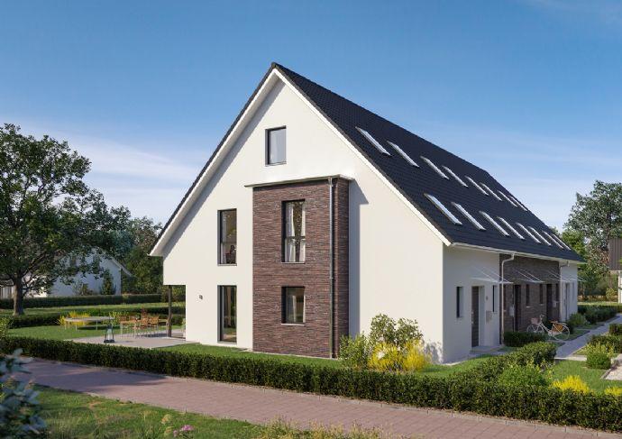 Baubeginn von 8 modernen Architekten-Stadthäusern als Energieeffizienzhaus KFW 55