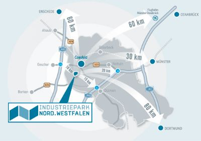 Lageplan Industriepark Nord.Westfalen