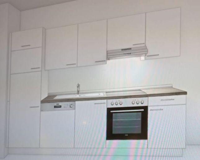 Wunderschöne helle ruhige 2-Zimmerwohnung: vollständig neu renoviert, mit eingerichteter Küchenze