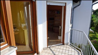 Balkon vor Gäste- und Schlafzimmer