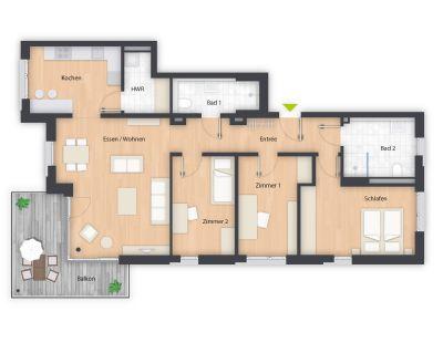 4 zimmer wohnung f rth s dstadt 4 zimmer wohnungen mieten kaufen. Black Bedroom Furniture Sets. Home Design Ideas