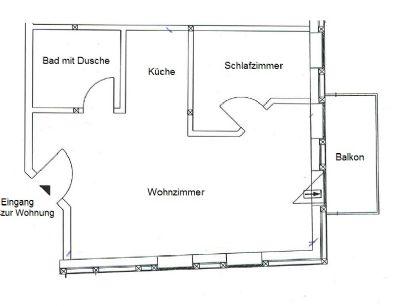 Grundriss 2-Raumwohnung