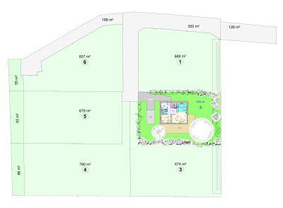 Flächenaufteilung des Baugebietes