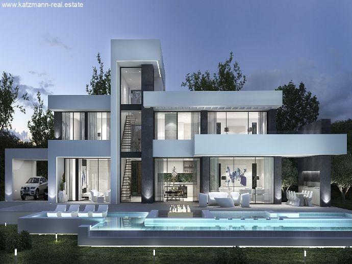 Spanien, Costa Blanca, Luxus-Villa (Neubau-Projekt) auf drei ...