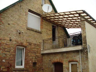 überdachte Dachterrasse