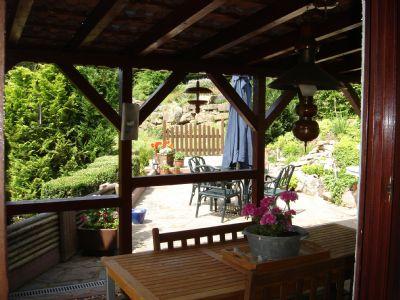 Balkon mit Blick zur Terrasse
