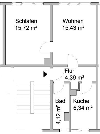 2-Raum Wohnung in Harzgerode
