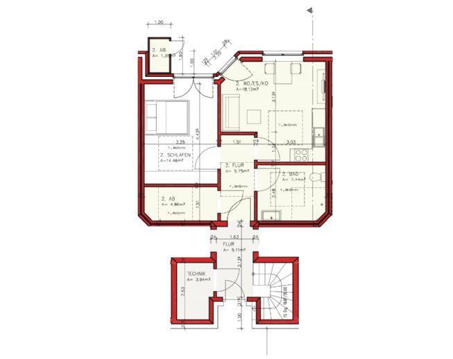 Schöne 2-Zimmer Wohnung mit Terrasse