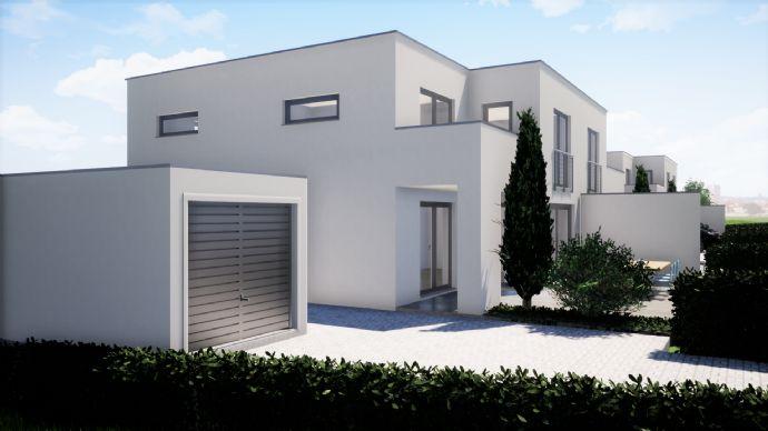 Neubauprojekt - DHH 4 - Massive Doppelhaushälfte mit Keller + Garage im Bauhausstil in begehrtem Wohngebiet Coburgs