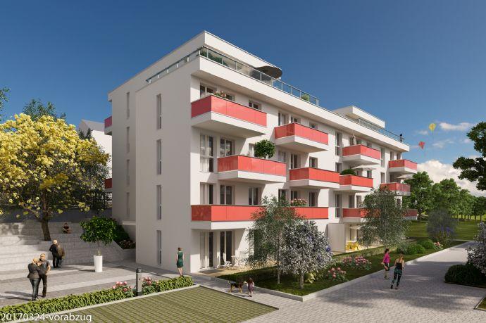 Wohn- und Stadtquartier CARLSGARTEN mit Weitblick, moderne Architektur im grünem Ambiente