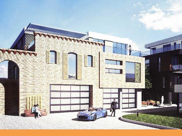 Luxeriöses Designerhaus in Werder (Havel) - 269,9 m² Wohnfläche auf 3 Etagen, 2 große Terrassen, Garten und 2 Garagen-Stellplätze