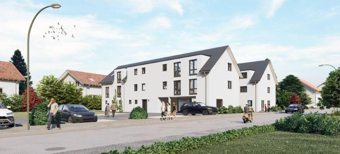 Baubeginn erfolgt - bereits 50% verkauft - !! Verkaufsstart !! -:- NEUBAU -:- 3-Zimmer-Wohnung in Zenntrumslage Lage von Hirschaid