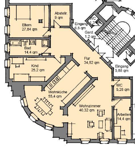Große Wohnung zwischen Innenstadt und Bahnhof, Erstbezug nach Sanierung