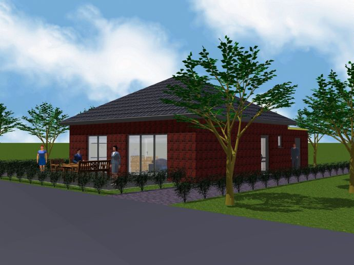 KfW-40 - Neubau-Bungalow im Wohnprojekt Nordhorn-Blanke