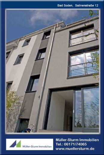 BAD SODEN: Exklusives TOWNHOUSE in bester Citylage nähe Park und S-Bahn-Station !